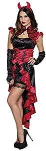 Boland-Disfraz Sexy, Color Negro/Rojo, 79123