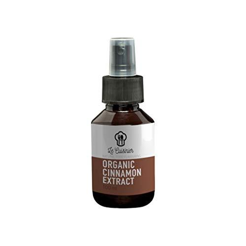 Zimt Spray von Le Cuisinier | Organic Cinnamon Extrakt 100ml | Ceylon Zimt bio Gewürze zum Backen & als Brotgewürz | Alternative zu Zimtöl - ätherische Gewürz Vanille öle