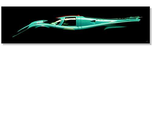 Großer hochwertiger Fotodruck auf leichter und stabiler Verbundplatte 35 x 140 cm, Stärke: 5 mm, Gulf Porsche 917