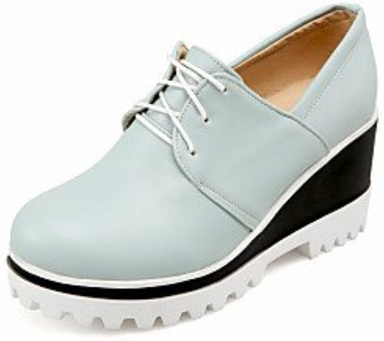 njx/Hug Damen Schuhe Keilabsatz Keile/rund Toe Heels Outdoor schwarz/blau/pink/weiß