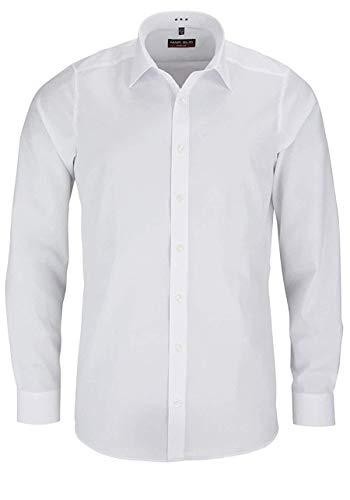MARVELIS Body Fit Hemd extra langer Arm Popeline weiß AL 69, Weiß, 42