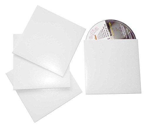 Hochzeit-dvd-hülle (100 CD-Leerhüllen aus Karton (Papphüllen) CD Kartonstecktaschen aus Chromokarton weiß glänzend, für je 1 CD/DVD/Blu-Ray Rohling)