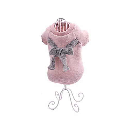 Ouken Lindo Perro suéter Mascota Chaleco arnés Cachorro Punto Polar Abrigo Ropa Caliente Chaleco a Prueba de Viento Ropa para Perros pequeños Mascotas Rosa-Talla L