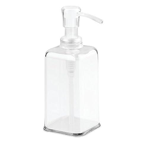 InterDesign Distributeur de savon Carson à pompe pour cuisine, meubles de salle de (2 White Piatto Mat)
