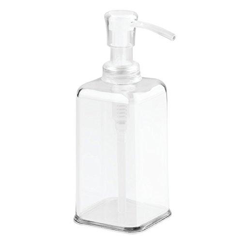 InterDesign Carson Pompa Dispenser Sapone per Cucina, Comò Bagno - Confezione da 2, (2 White Piatto Mat)