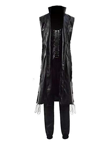 Jinlan Fuzhuang Cosplay Jacke Rolle Dante und Nero passt Kostüm aus PU (S, Nero) Nero Jacke