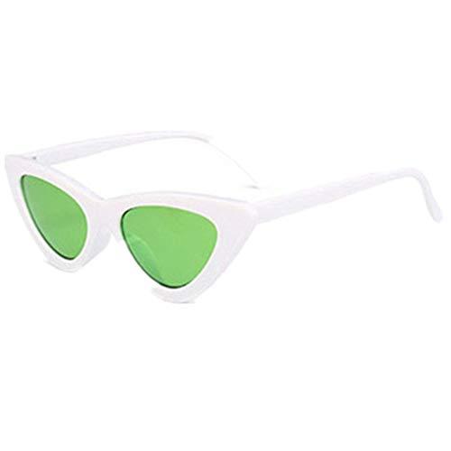 Sonnenbrille Polarisiert für Damen/Dorical Cateye Bonbonfarben Kleiner Rahmen Gläser Sonnenbrille mit UV-400 Schutz Vintage Brille Frauen Sunglasses Travel Eyewear(F)