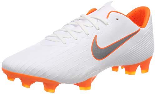 Nike Herren Mercurial Vapor 12 FG PRO Fußballschuhe, Weiß (White/Chrome-Total O 107), 45.5 EU -