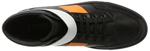 Bikkembergs Track-er 970, baskets montantes homme Nero (Black/Orange/White)