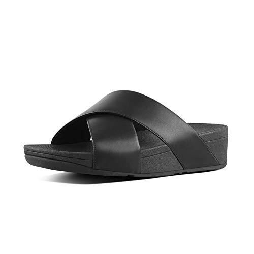 Fitflop Damen Lulu Cross Slide Sandalen, Schwarz (Black 001), 42 EU