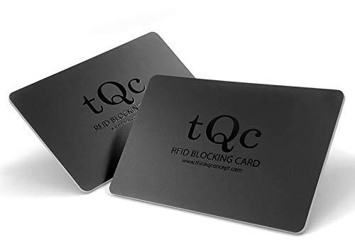 2X Carte de Blocage RFID NFC avec Brouilleur de Signal; Protection Carte Bancaire CB, Passeport; Protecteur de Carte bancaire sans Contact; 1 Seule Carte Protège Votre Portefeuille et Passeport