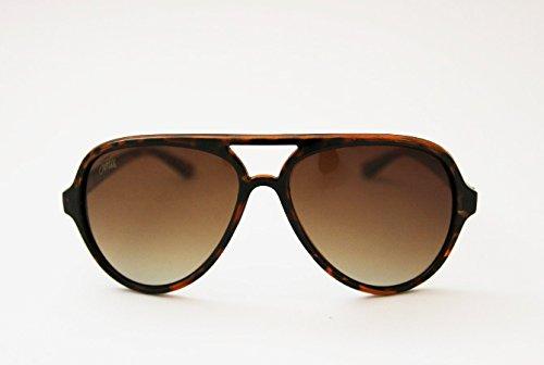 Unbekannt Fortis Eyewear-AV001Aviator-Sonnenbrille Schildpatt