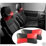 #10: Delhitraderss -Designer Car Seat Neck Cushion Pillow Black & Red for - Honda Jazz New (2015)