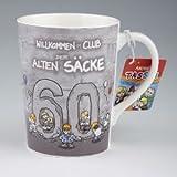 Archies Becher Geburtstagstasse Tasse 60. Geburtstag Willkommen im Club der alten Säcke