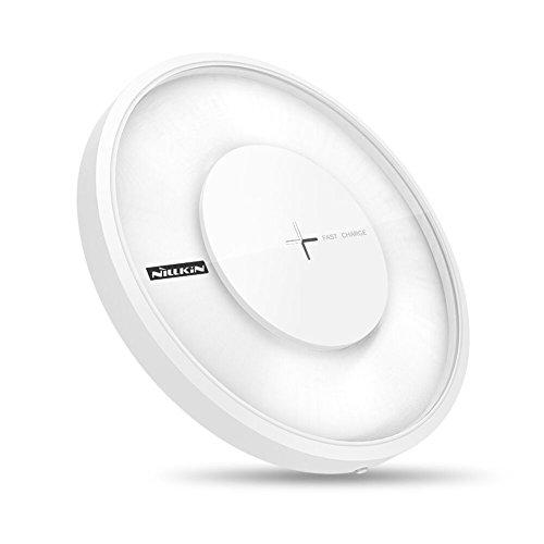 Nillkin Magic Disk 4 Qi Caricabatteria Wireless Veloce Stazione di Carica Veloce Fast Wireless Charger [con luci Colorate] per iPhone X/ 8/ 8Plus, Samsung Galaxy Note 9 8 S9 S9 Plus S8 S8 Plus