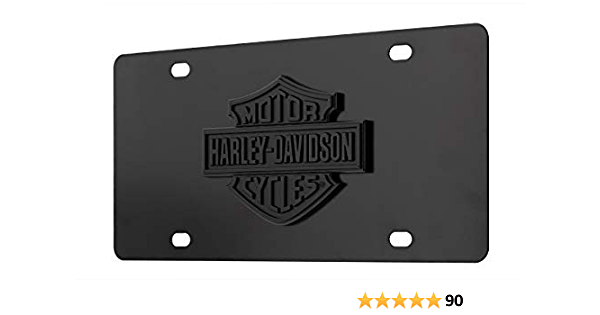 Harley Davidson Bar And Shield Schwarzes 3d Emblem Dekoratives Nummernschild Vorne Auto