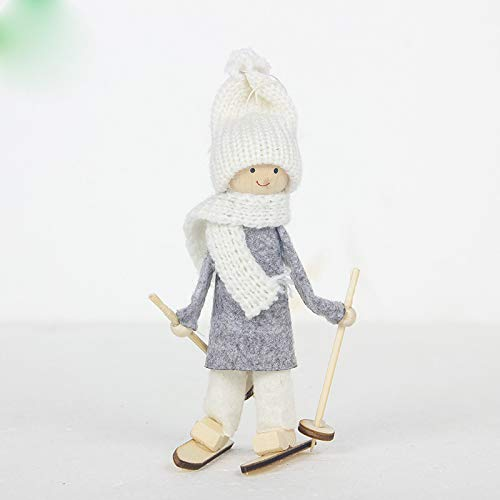 Longzhuo Stoff Weihnachtsdekoration Weihnachtswichtel Dekofigur Nordische Stimmung Thema mit Bart Knollnase Langer Zipfelmütze