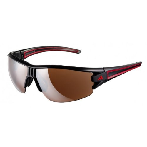 Adidas Eyewear Evil Eye Halfrim L Polarized, Farbe Black/Red