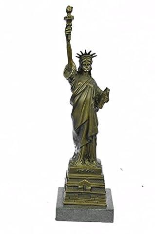 Selten Handmade Bronze Skulptur Bronze Statue Ursprüngliches Wien Freiheits New Yorker Wahrzeichen Home Decor-EUyrd-910- Decor Sammler (Freiheit Bronze Bronze-skulptur)