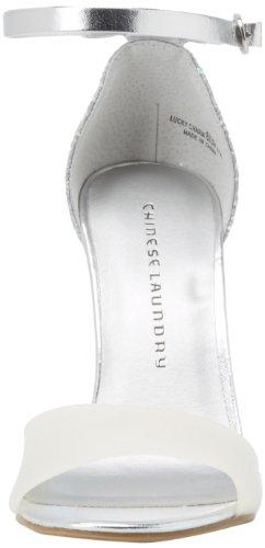 Lavandaria Multi Superiores Alto Chinês Sapatos Branco Salto Encanto Abertas De Sorte sintéticos dwffzq