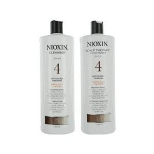 Nioxin System 4 Cleanser & Scalp Therapy Revitaliser - Shampoo & Conditioner Duo/Twin Pack 300ml by Nioxin