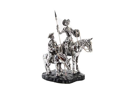 Item Figure QUIJOTE Silver Plated Resin 20 * 15 * 23 Approximately