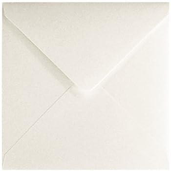 Paper24 Lot de 50 enveloppes carr/ées sans fen/être Blanc 150 x 150 mm 120 g//m/²