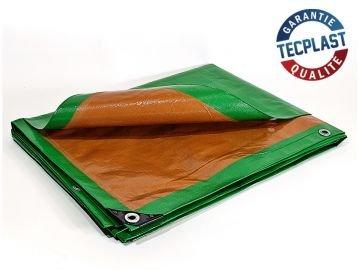 Lona de protección 5x 8m. 250G/m²–Plástico–Exterior–Impermeable, de techado, para obras.
