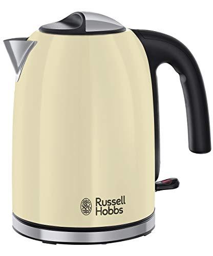 Russell Hobbs 20415-70 - Hervidor de agua classic, 1,7 L, filtro extraíble y lavable, 2400 W, color classic cream