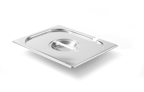 Hendi 806937 Gastronorm-Deckel mit Löffelaussparung, GN 1/2