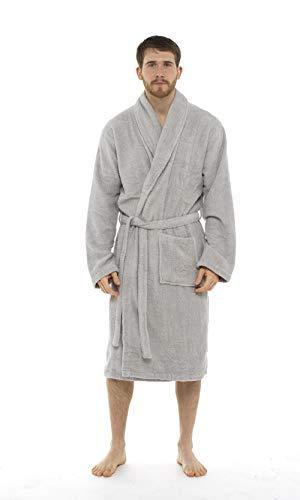 CityComfort Bata de baño para Hombres Bata de algodón 100% Terry Albornoz Albornoz Baño...