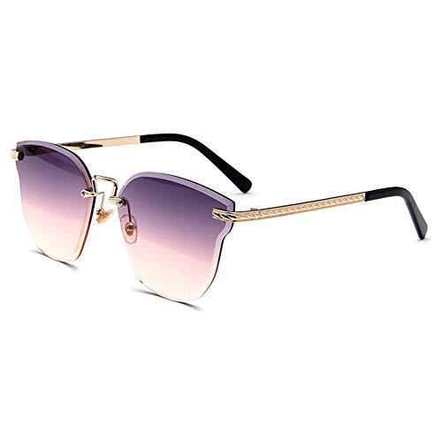 KLJJQAQ Bunte Sonnenbrille Ocean Crystal Light Rahmenlose UV-HD-Linse Polarisierte Unisex-Sonnenbrille