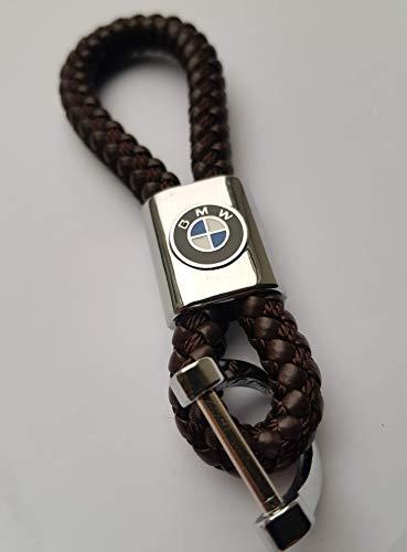 ELPCraft Leder-Auto-Logo-Schlüsselanhänger kompatibel für BMW, Schlüsselanhänger, Zubehör mit BMW-Logo, Schlüsselanhänger, Zubehör, Geschenk für Damen und Herren, Coffee - Brown (Schlüsselanhänger Logo Leder Brown)