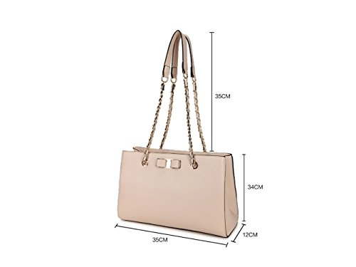 Leahward® Ladies Borsa A Tracolla A Catena Lunga Stile Celebrità Similpelle Borsa Media Taglia Large Blu