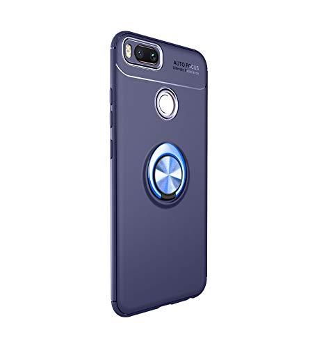 Funda Xiaomi Mi A1 Teléfono Móvil Silicona Bumper Case Funda con Anillo Giratorio de 360 Grados Rotaria Ring Holder Protectora Caso (2, Xiaomi Mi A1)