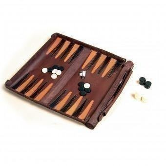 Leathersafe 'Roll & Play Packgammon'