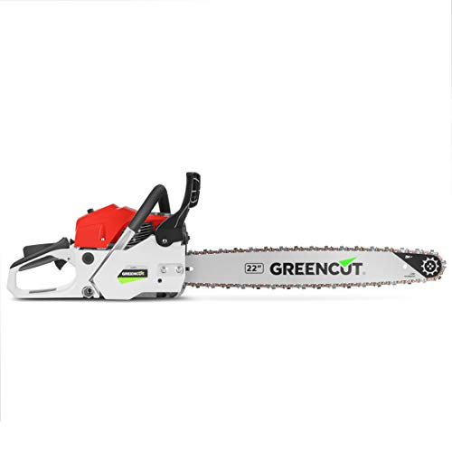 Greencut GS6800 22 Motosierra, 62 Cc, Rojo