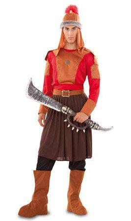 CRAZY THE PARTY Krieger-Kan-Kostüm für Erwachsene M/L (Asiatisch Bart Kostüm)