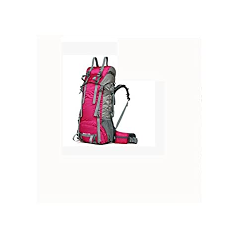 60L + 10L Sac d'alpinisme Forfait Polar professionnel à grande capacité Hommes et femmes Sac à dos étanche pour voyage à l'extérieur , rose red