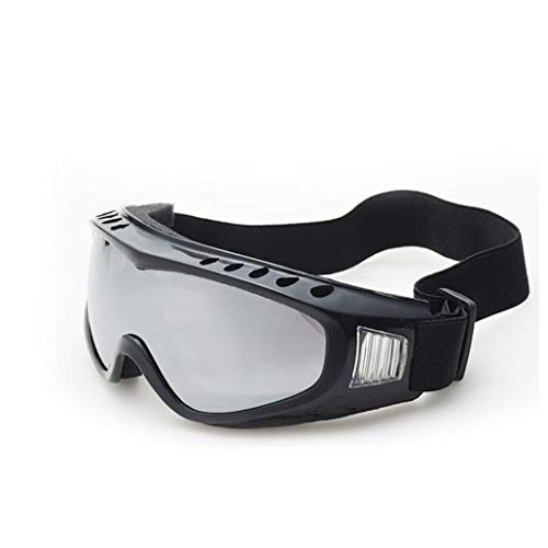 Occhiali da moto unisex Antivento Polvere Ventilazione Foro Anti-nebbia Moto Sci Occhiali Protezione UV Classica cornice nera Occhiali da sole regolab