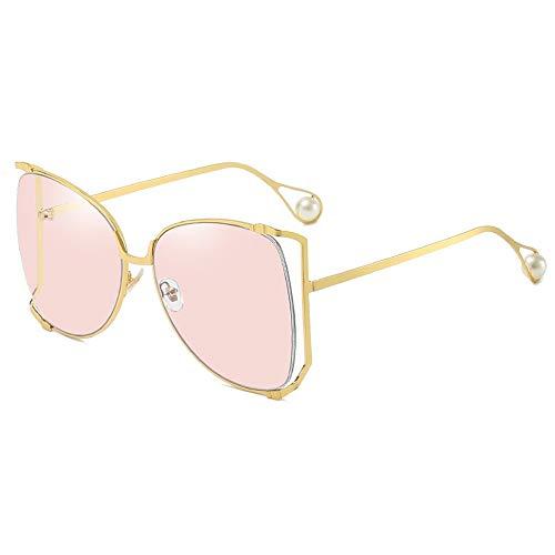 AOEIY Sonnenbrillen Polarisiert UV400 Schutz UV Strahlen Trend Sommer Herren Damen Mode Design Retro Vintage Gläser Ultra Leicht Autofahren Laufen Radfahren Angeln Golf Goldrahmenpulver