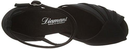 Diamant Diamant Damen Latein Tanzschuhe 020-077-040, Chaussures de Danse de salon femme Noir - Noir