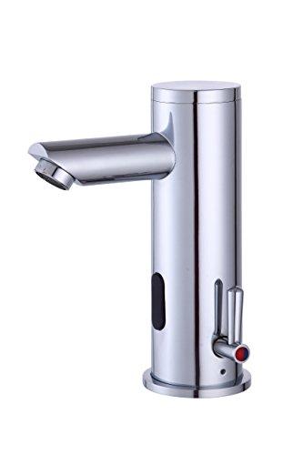 Fyeer Automatischer Sensor Wasserhahn Automatik berührungslose Waschtischarmatur Mischbatterie für Waschbecken Badzimmer,Infrarot Wasserhahn, Messing verchromt Tpy A 0135A (A) (Automatische Wasserhahn)