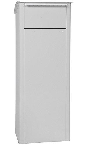 MEFA Paketpostkasten Beech (458) Verkehrsweiß RAL 9016 Standbriefkasten Briefe+Pakete Entnahme hinten Sicherheitsschloß