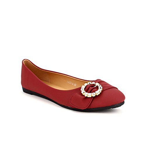 Cendriyon Ballerines Rouge CINKS Chaussures Femme Rouge
