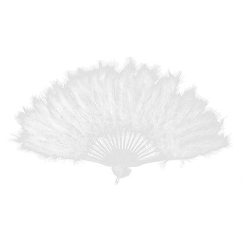 Damen Burlesque Federhandventilator Kostuem Prop - Weißes Burlesque Kostüm