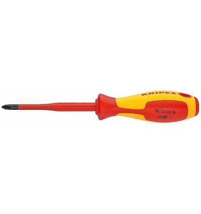 Knipex Schraubendreher Plus-minus PZ Slim, Länge in mm: 187, 1 Stück, 98 25 01 SLS