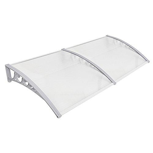 Tettoie da esterno,pensiline in policarbonato,pensiline ad arco per porta o finestra per esterno (100cm x 300cm)