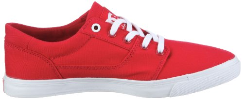Dc Shoes Bristols Canvas Womens Shoe D0303113, Sneaker Donna Rosso (Rot/Athletic Red/White)