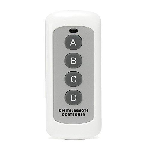 Gankmachine 433MHz 4 Taste EV1527-Code Fernbedienung wechseln HF-Sender Wireless Key für Smart Home Garagentüröffner